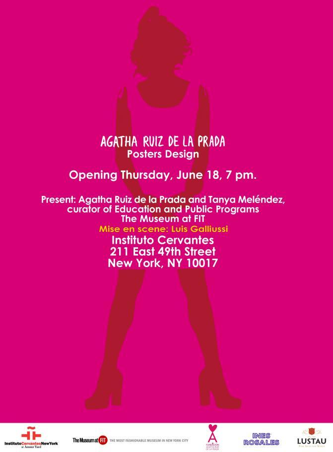 Agatha Ruiz de la Prada Exhibition, June 18th at 7PM!!